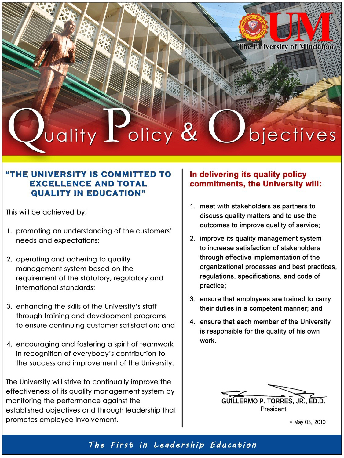 Quality Policy and Objectives